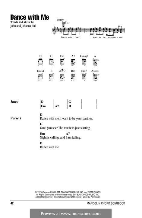 Dance with Me (Orleans): For mandolin by John T. Hall, Johanna Hall