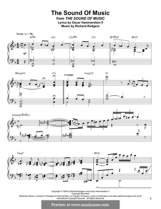 The Sound of Music: Для фортепиано by Richard Rodgers