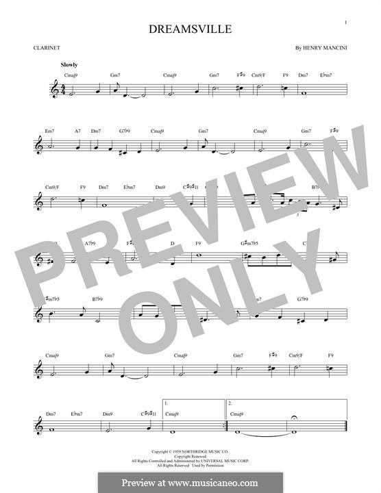 Dreamsville: Для кларнета by Henry Mancini