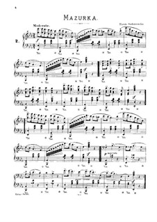 Мазурка для фортепиано ми-бемоль мажор: Для одного исполнителя by Тэкля Бондажевска-Барановска