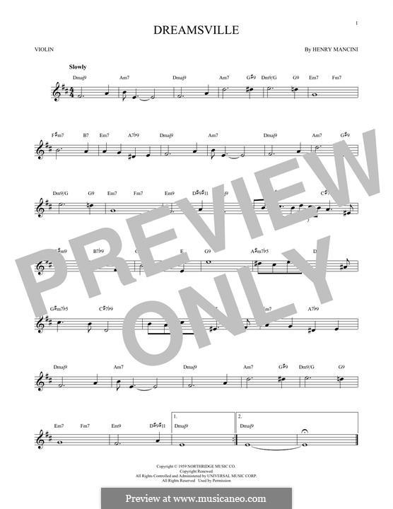 Dreamsville: Для скрипки by Henry Mancini