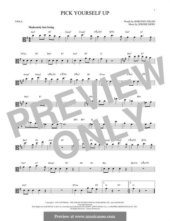 Pick Yourself Up: For viola by Джером Керн