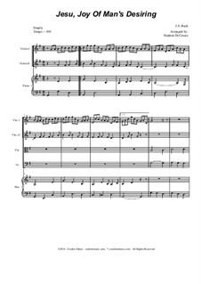 Jesu, Joy of Man's Desiring: Для струнного квартета by Иоганн Себастьян Бах
