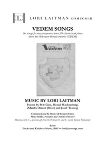 Vedem Songs: Formezzo-soprano and tenor with clarinet and piano (score and clarinet part included) by Lori Laitman