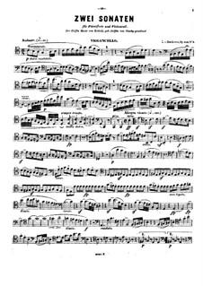 Соната для виолончели и фортепиано No.4 до мажор, Op.102 No.1: Сольная партия by Людвиг ван Бетховен