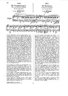 Тридцать три вариации на тему вальса А. Диабелли, Op.120: Для фортепиано (Редакция Г. Бюлова) by Людвиг ван Бетховен