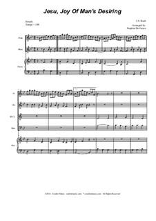 Jesu, Joy of Man's Desiring: For woodwind quartet by Иоганн Себастьян Бах