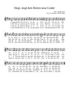Singt, singt dem Herren neue Lieder EG 286: Singt, singt dem Herren neue Lieder EG 286 by Joachim Roller
