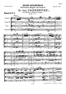 Квартет No.2 соль мажор: Партитура by Людвиг ван Бетховен