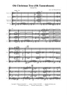 O Christmas Tree (O Tannenbaum): For clarinet trio by folklore