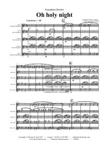 Святая ночь: For saxophone quintet by Адольф Адам