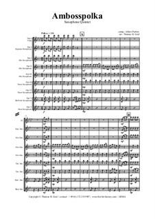 Amboss Polka: For saxophone quintet by Альберт Парлов