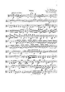 Концерт для фортепиано с оркестром No.2, Op.19: Версия для струнного квинтета, партия альта by Людвиг ван Бетховен