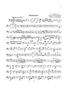Концерт для фортепиано с оркестром No.2, Op.19: Версия для струнного квинтета – партия виолончели by Людвиг ван Бетховен