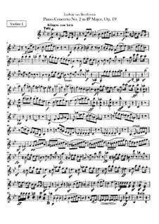 Концерт для фортепиано с оркестром No.2, Op.19: Партия первых скрипок by Людвиг ван Бетховен