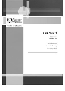 Son amor! - Samba: No.3 for clarinet quartet by Thomas Hans Graf