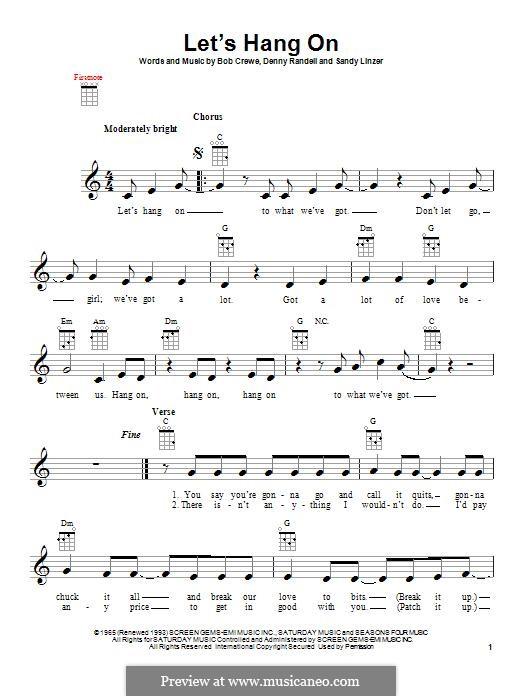 Let's Hang On: Для укулеле by Bob Crewe, Denny Randell, Sandy Linzer