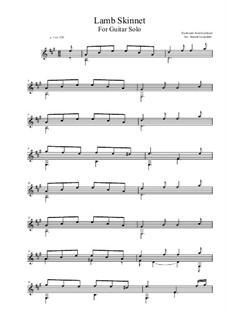 Lamb Skinnet - A-Major (For Guitar Solo): Lamb Skinnet - A-Major (For Guitar Solo) by folklore