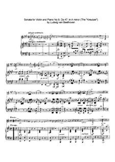 Соната для скрипки с фортепиано No.9 'Крейцерова', Op.47: Часть I by Людвиг ван Бетховен