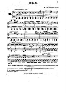 Соната для фортепиано No.21 'Вальдштейновская', Op.53: Редакция Г. Бюлова by Людвиг ван Бетховен