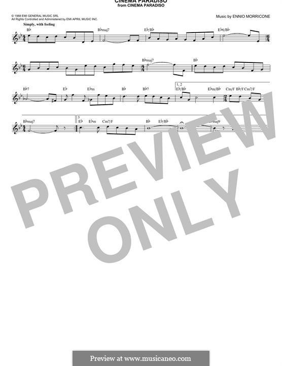 Cinema Paradiso: Текст, аккорды by Ennio Morricone