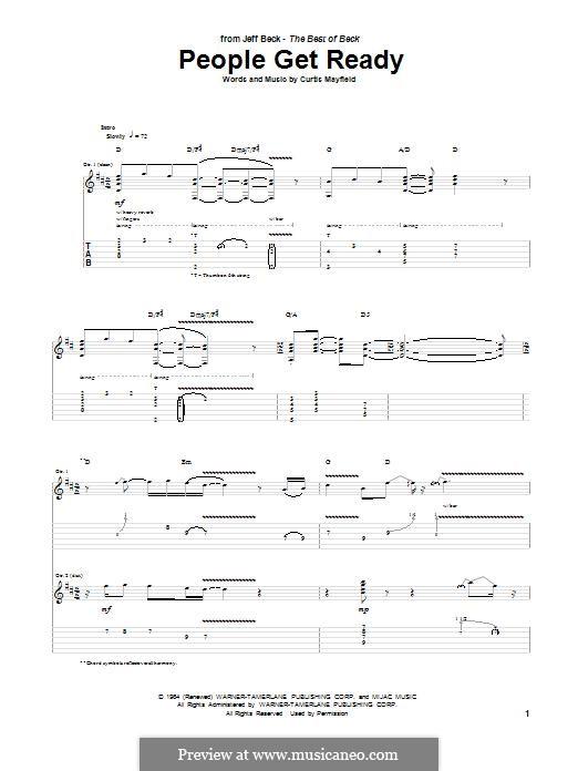 People Get Ready (Eva Cassidy): Гитарная табулатура by Curtis Mayfield