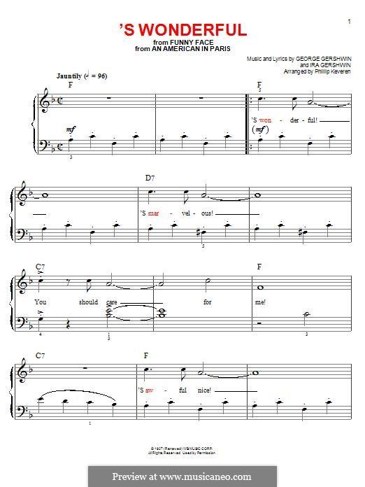 'S Wonderful: Для фортепиано by Джордж Гершвин