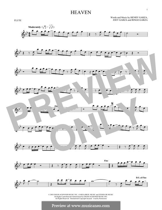 Heaven (Los Lonely Boys): Для флейты by Henry Garza, Joey Garza, Ringo Garza