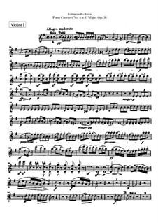 Весь концерт: Партия первых скрипок by Людвиг ван Бетховен