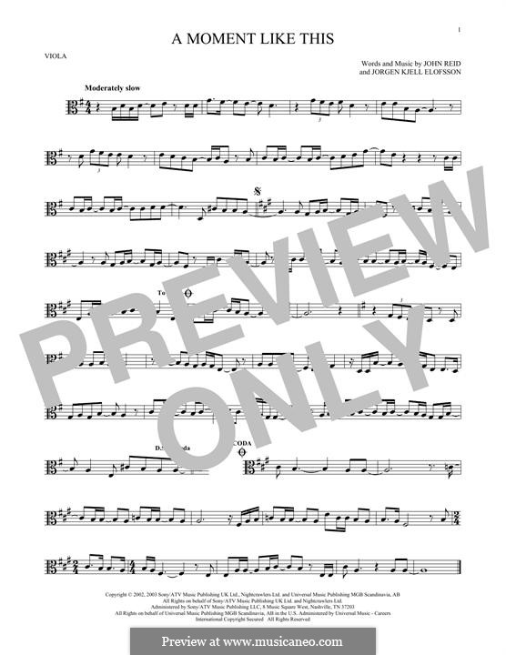 A Moment Like This: For viola by John Reid, Jörgen Kjell Elofsson