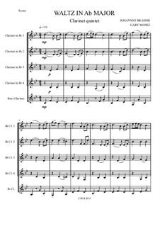 Вальс No.15: Arrangement for clarinet quintet by Иоганнес Брамс