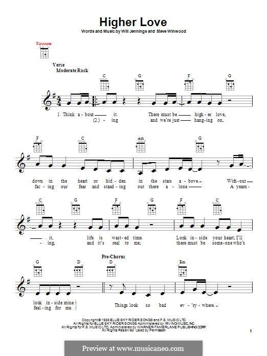 Higher Love: Для укулеле by Steve Winwood, Will Jennings