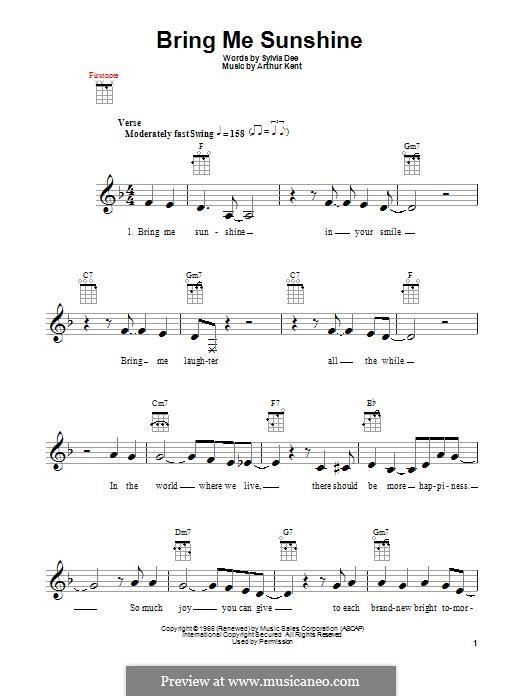 Bring Me Sunshine: Для укулеле by Arthur Kent