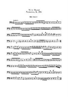 Ноктюрн для четырёх оркестров ре мажор, K.286: Партия виолончелей by Вольфганг Амадей Моцарт