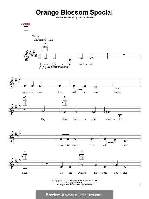 Orange Blossom Special: Для укулеле by Johnny Cash