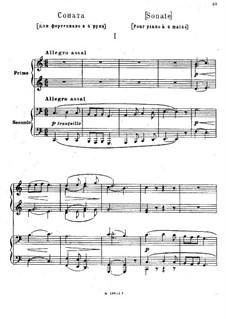 Соната для фортепиано в четыре руки до мажор: Клавир by Модест Мусоргский