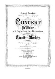 Концерт для скрипки с оркестром No.1 ми минор, Op.30: Версия для скрипки и фортепиано by Тивидар Начес