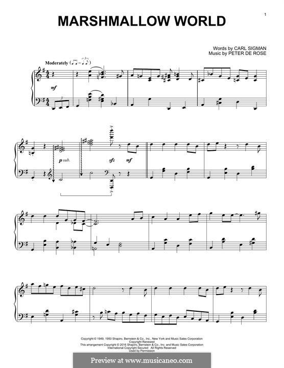 A Marshmallow World: Для фортепиано by Peter de Rose