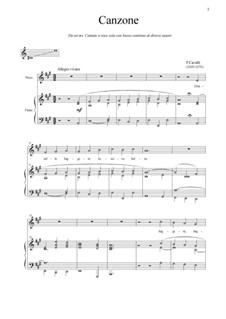 Donzelle, fuggite: Для голоса и фортепиано (A Major) by Пьетро Франческо Кавалли