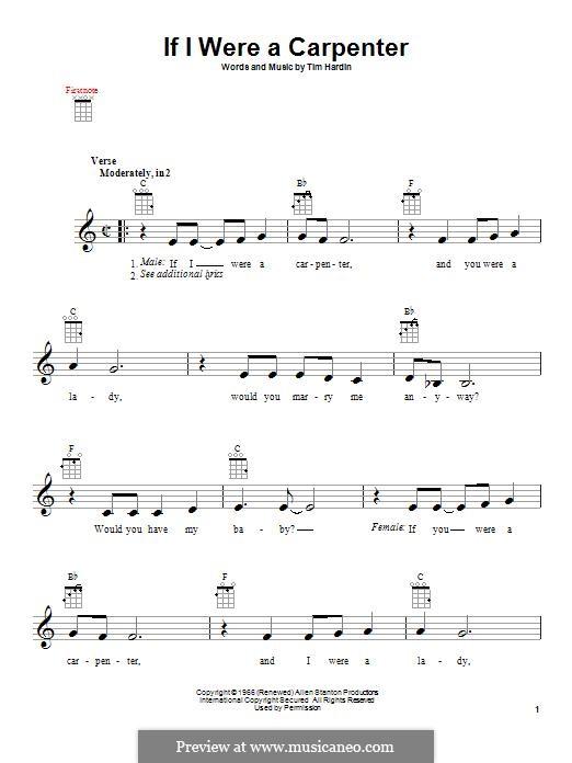 If I Were a Carpenter: Для укулеле by Tim Hardin