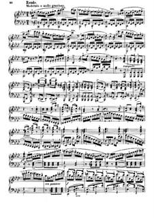 Соната для фортепиано No.2 ля-бемоль мажор, J.199 Op.39: Часть IV (с аппликатурой) by Карл Мария фон Вебер