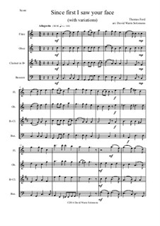 Since First I Saw Your Face: For wind quartet by Thomas Ford