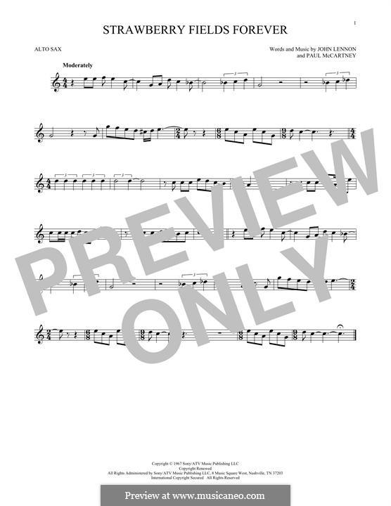 Strawberry Fields Forever (The Beatles): Для альтового саксофона by John Lennon, Paul McCartney