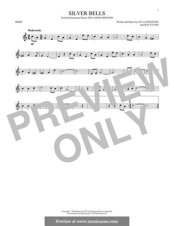 Silver Bells: For horn by Jay Livingston, Raymond Evans