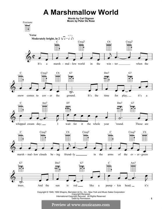 A Marshmallow World: Для укулеле by Peter de Rose