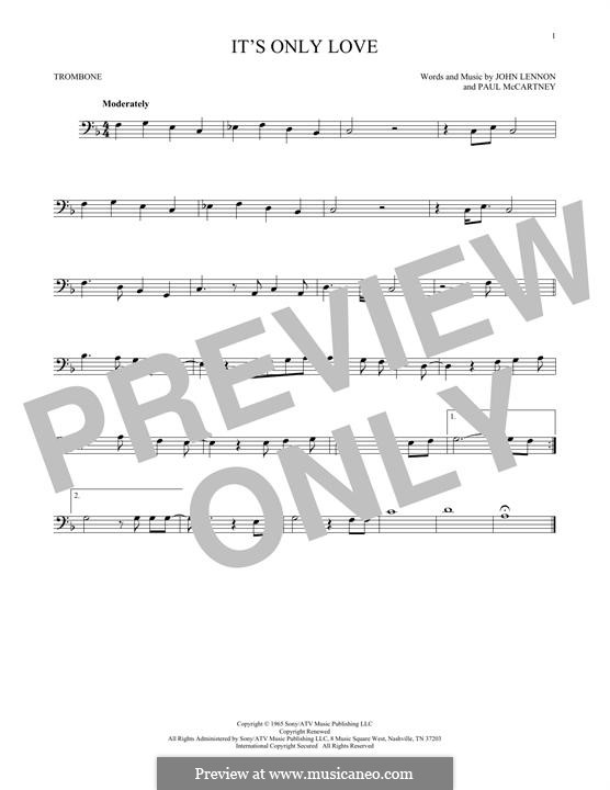 It Won't Be Long (The Beatles): For trombone by John Lennon, Paul McCartney