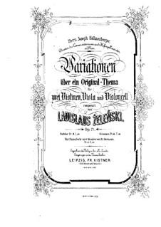 Вариации на оригинальную тему для струнного квартета, Op.21: Партитура by Владислав Желеньский