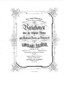 Вариации на оригинальную тему для струнного квартета, Op.21: Партии by Владислав Желеньский