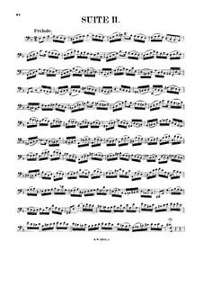 Сюита для виолончели No.2 ре минор, BWV 1008: Для одного исполнителя by Иоганн Себастьян Бах