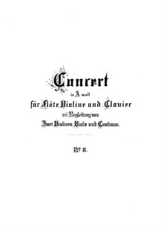 Тройной концерт для флейты, скрипки и клавесина ля минор, BWV 1044: Партитура by Иоганн Себастьян Бах